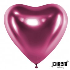 Сердце (12''/30 см) Фиолетовый, хром, 50 шт.