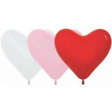 Сердце (12''/30 см) Ассорти (005/009/015), пастель, 50 шт.
