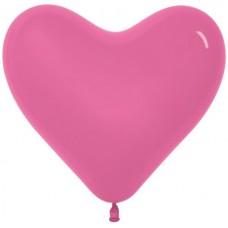Сердце (16''/41 см) Фуше (012), пастель, 100 шт.
