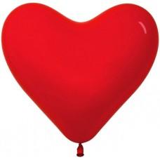 Сердце (16''/41 см) Красный (315), кристалл, 100 шт.