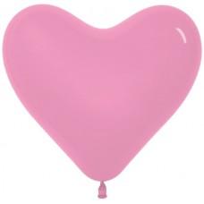 Сердце (16''/41 см) Розовый (009), пастель, 50 шт.