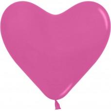 Сердце (16''/41 см) Фуше (012), пастель, 50 шт.