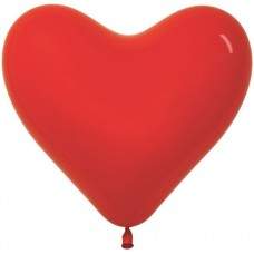 Сердце (16''/41 см) Красный (015), пастель, 50 шт.
