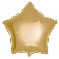 Шар (18''/46 см) Звезда, Античное золото, 1 шт.