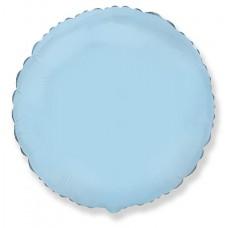 Шар (18''/46 см) Круг, Голубой, 1 шт.
