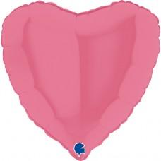 Шар (18''/46 см) Сердце, Бабл-гам, 1 шт.