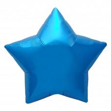 Шар (30''/76 см) Звезда, Синий, 1 шт. в упак.