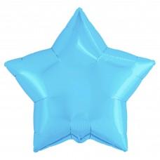 Шар (30''/76 см) Звезда, Холодно-голубой, 1 шт. в упак.