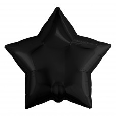 Шар (30''/76 см) Звезда, Черный, 1 шт. в упак.