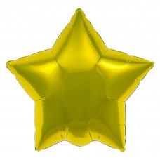 Шар (30''/76 см) Звезда, Золото, 1 шт. в упак.