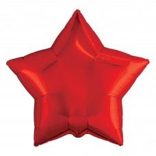 Шар (30''/76 см) Звезда, Красный, 1 шт. в упак.