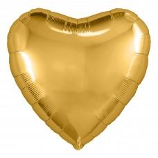 Шар (30''/76 см) Сердце, Золото, 1 шт. в упак.