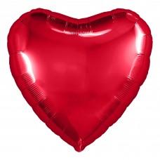 Шар (30''/76 см) Сердце, Красный, 1 шт. в упак.
