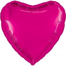 Шар (30''/76 см) Сердце, Фуше, 1 шт. в упак.