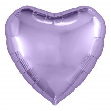 Шар (30''/76 см) Сердце, Сиреневый, 1 шт. в упак.