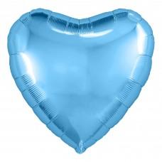 Шар (30''/76 см) Сердце, Холодно-голубой, 1 шт. в упак.