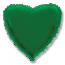 Шар (32''/81 см) Сердце, Зеленый, 1 шт.