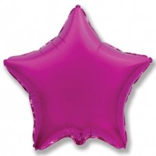 Шар (4''/10 см) Микро-звезда, Пурпурный, 1 шт.