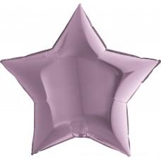 Шар (9''/23 см) Мини-звезда, Сиреневый, 1 шт.