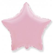 Шар (9''/23 см) Мини-звезда, Розовый, 1 шт.