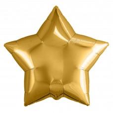 Набор шаров (9''/23 см) Мини-звезда, Золото, 5 шт. в упак.