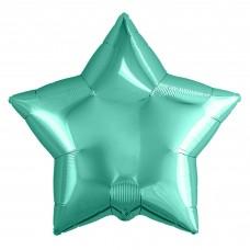 Набор шаров (9''/23 см) Мини-звезда, Бискайский зеленый, 5 шт. в упак.