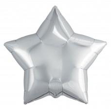 Набор шаров (9''/23 см) Мини-звезда, Серебро, 5 шт. в упак.