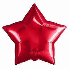 Набор шаров (9''/23 см) Мини-звезда, Красный, 5 шт. в упак.