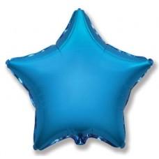 Шар (9''/23 см) Мини-звезда, Синий, 1 шт.