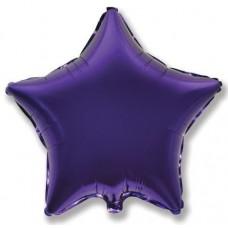 Шар (9''/23 см) Мини-звезда, Фиолетовый, 1 шт.