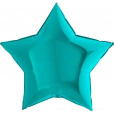 Шар (9''/23 см) Мини-звезда, Тиффани, 1 шт.