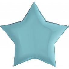 Шар (9''/23 см) Мини-звезда, Голубой, 1 шт.