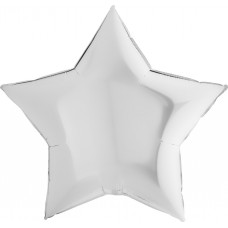 Шар (9''/23 см) Мини-звезда, Белый, 1 шт.