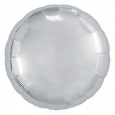 Набор шаров (9''/23 см) Мини-круг, Серебро, 5 шт. в упак.
