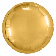 Шар (9''/23 см) Мини-круг, Золото, 1 шт.