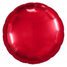 Шар (9''/23 см) Мини-круг, Красный, 1 шт.