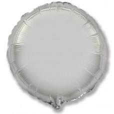 Шар (9''/23 см) Мини-круг, Серебро, 1 шт.