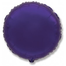 Шар (9''/23 см) Мини-круг, Фиолетовый, 1 шт.