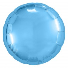 Набор шаров (9''/23 см) Мини-круг, Холодно-голубой, 5 шт. в упак.