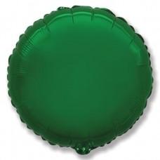 Шар (9''/23 см) Мини-круг, Зеленый, 1 шт.
