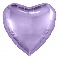Набор шаров с клапаном (9''/23 см) Мини-сердце, Сиреневый, 5 шт. в упак.