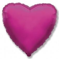 Шар (9''/23 см) Мини-сердце, Пурпурный, 1 шт.