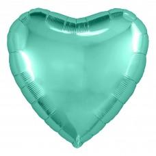Набор шаров с клапаном (9''/23 см) Мини-сердце, Бискайский зеленый, 5 шт. в упак.