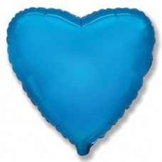Шар (9''/23 см) Мини-сердце, Синий, 1 шт.