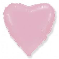 Шар (9''/23 см) Мини-сердце, Розовый, 1 шт.