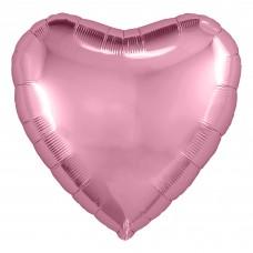 Набор шаров с клапаном (9''/23 см) Мини-сердце, Розовый фламинго, 5 шт. в упак.