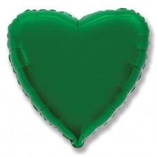 Шар (9''/23 см) Мини-сердце, Зеленый, 1 шт.