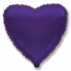 Шар (9''/23 см) Мини-сердце, Фиолетовый, 1 шт.