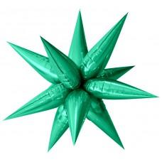 Шар (26''/66 см) Фигура, Звезда составная, Зеленый, 1 шт. в упак.