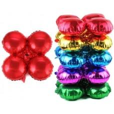 Связка шаров для арки (21''/53 см) Круг, Красный, 1 шт.